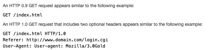 http example - HTTP 0.9 GET /
