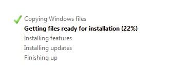 Windows Setup - Install Status