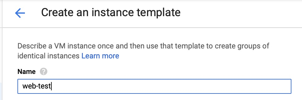 GCE - Instance Template - Name