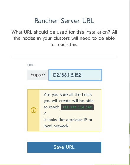 Rancher Server URL