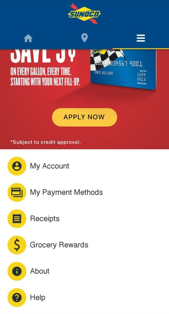Sunoco's Mobile Fuel Payment App Features and Options