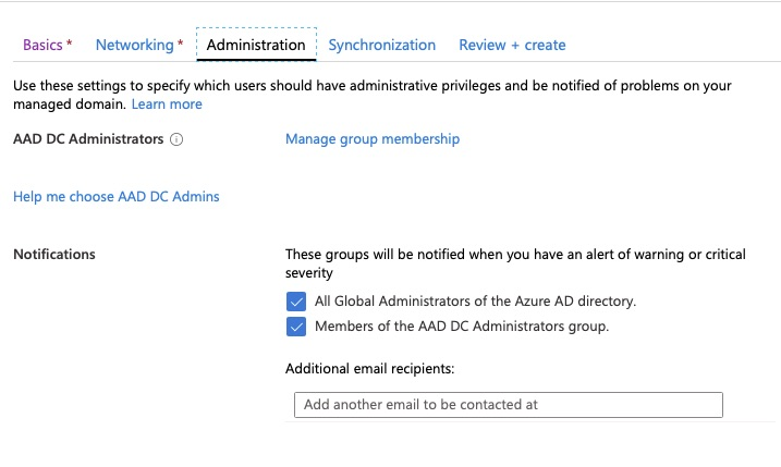 Azure AD Domain Services - Administration