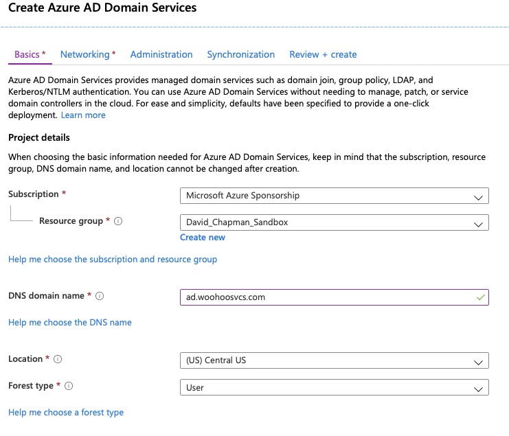 Azure AD Domain Services - Basics