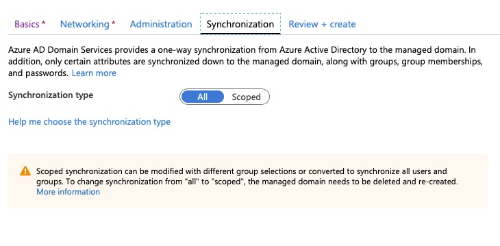 Azure AD Domain Services - Synchronization